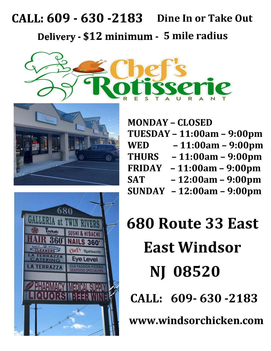 Chef S Rotisserie Quality Chicken In Windsor Nj